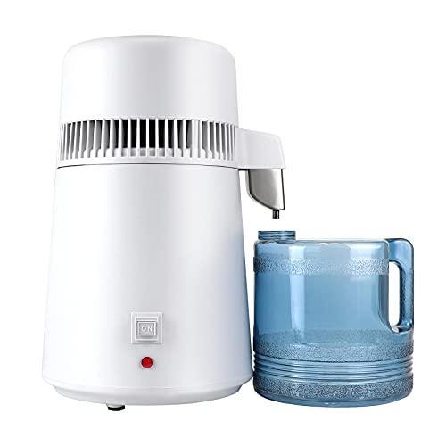 Snowtaros 4L Destilador de Agua, 750W Purificador de Agua con Botella de Colección, Profesional Máquina Destilación de Agua Puro para Uso Doméstico