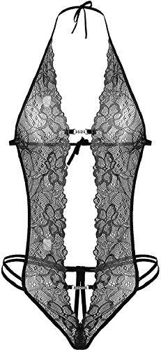 CheChury Mujer Ropa Interior Conjunto Sexy V Profundo Lencería Encaje...