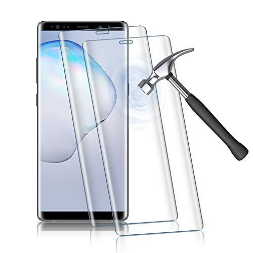 Agedate 2 Stück Panzerglasfolie für Samsung Galaxy Note 8, 9H Härte Displayschutzfolie, Blasenfrei Kratzfest Schutzfolie Panzerglas, HD Vollbildanzeige mit Installation Werkzeug (Transparent)