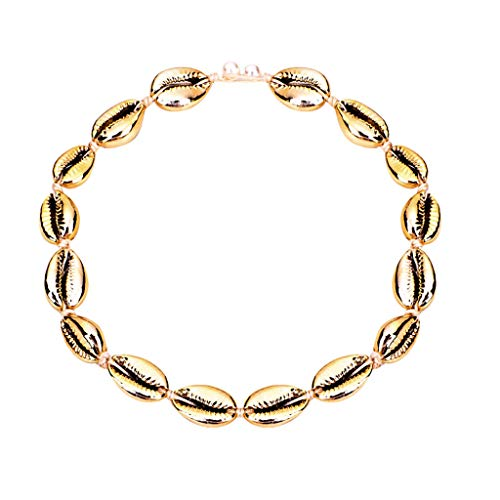 Halskette Damenschmuck Bohemian Vintage Plated Metallic Gold Pearl Shell (Mehrfarbig)