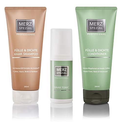 Merz Spezial Professional Set Haar Shampoo, Conditioner & Tonic - für mehr Haarwachstum, weniger Haarausfall und weniger Haarbruch