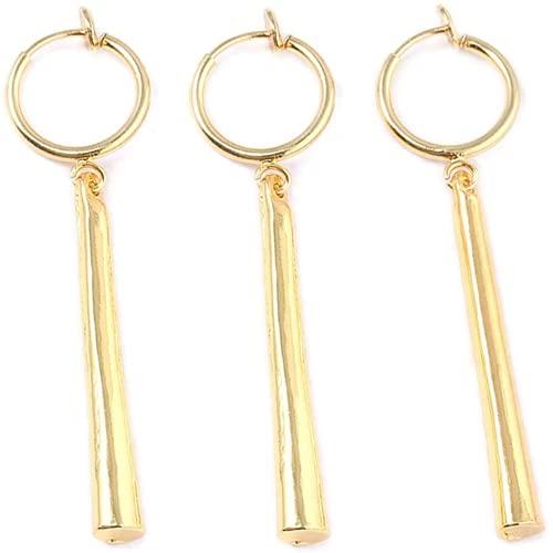 3 piezas de pendientes de oro de 3,4 cm / 1,3 pulgadas, adecuados para la fiesta de cosplay de One Piece Roronoa Zoro, pendientes de accesorios de disfraces, regalos de fans