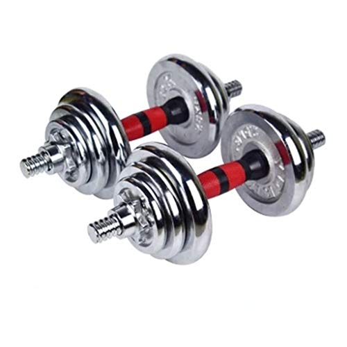 ZYY Electroplated Dumbbell 40KG Dumbbell Adjustable Removable Fitness Dumbbell Home Portable Fitness...