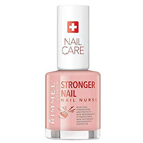 Rimmel London Base Unghie Nail Nurse, Smalto Rinforzante e Protettivo Transparente per Unghie Deboli, 12 ml