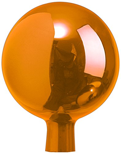 Windhager Rosenkugel, Gartenkugel, Sonnenfänger-Kugel, Glas-Deko für Garten und Terrasse, mundgeblasen, orange, 12 cm, 07800