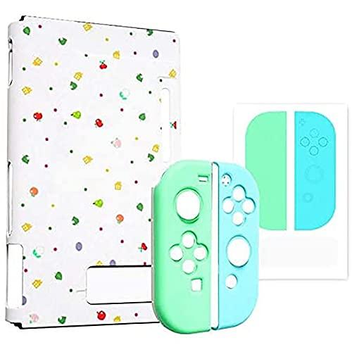 Hengqiyuan Estuche Protector para Nintendo Switch Accesorios Consola De Juegos Cubierta Protectora Carcasa Cubierta Dura Anti-Caída,Blanco,Switch