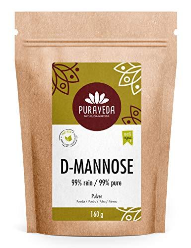 D-Mannose Pulver - 160g - vegan, naturbelassen - Allergiefrei - non-GMO - Manufakturabfüllung in Deutschland