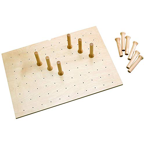 Rev-A-Shelf 4DPS-3921 Large 39 x 21 Inch Wood Peg Board System for Deep Drawers Organizer with 16 Pegs and Exact Fit Customization Natural Maple