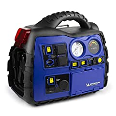 AWESOME FEATURES - Jump Starter, Bluetooth connectivity, Air Inflator, Two AC Outlets, USB power port, DC Socket, LED worklight, Aux input, and an AM/FM Radio with digital tuner! OUTSTANDING PERFORMANCE - MICHELIN 1000 Peak Amps with 300 cranking Amp...