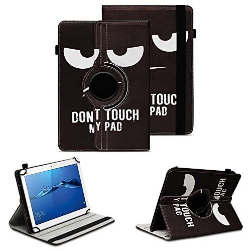 NAUC Tablet Tasche kompatibel für Huawei Mediapad X2 Hülle Schutzhülle Cover Schutz Hülle Drehbar, Farben:Motiv 4