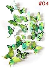 Wonderland 12PCS/lot 3D Butterfly Fridge Magnets& Sticker Room Wall Decoration