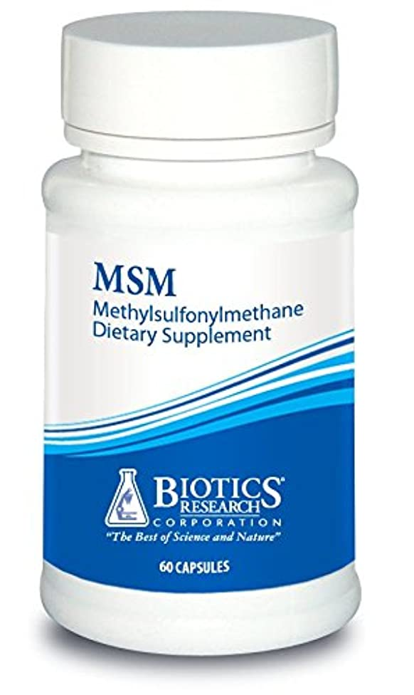 Biotics Research MSM – Connective Tissue Support, Collagen Production, Digestive Support, Healthy Gut Lining, Joint Flexion and Mobility. 60 Caps