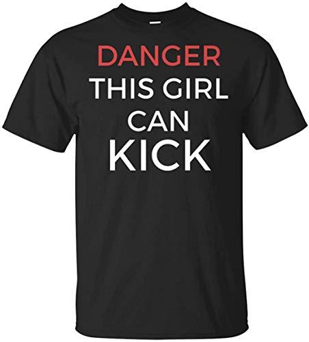 Cozy-T Danger This Girl Can Kick Funny Karate, Taekwondo Personalizado Camiseta