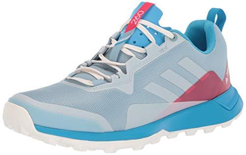 adidas outdoor Women's Terrex CMTK Trail Running Shoe, ASH Grey/Chalk White/Shock Cyan, 11 M US