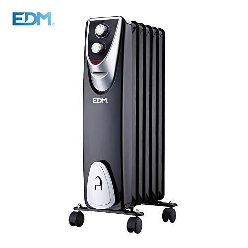 EDM Radiador Black Edition sin Aceite 6 Elementos