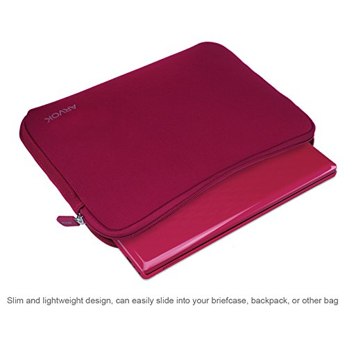 Arvok 15 15,6 16 Zoll Laptoptasche Schutzhülle Wasserdicht Neoprene, Laptop Sleeve Case Laptophülle Notebook Hülle Tasche für Acer/Asus/Dell/Fujitsu/Lenovo/HP/Samsung/Sony, Wein Rot
