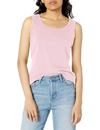 Hanes Women's Cotton Tank, PALEO pink, MEDIUM