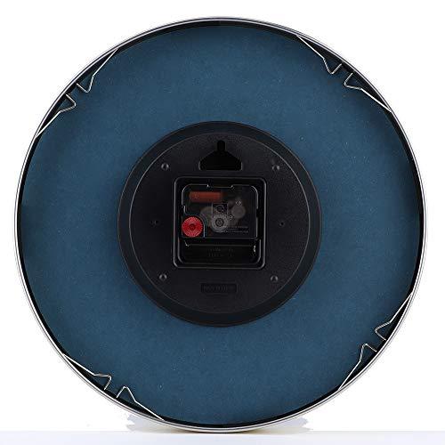 Pwshymi Reloj Moderno para Colgar en la Pared, Reloj Ambiental para la decoración del hogar, Oficina, Sala de Estar(Blue Simple Style)