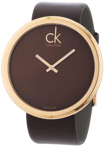 Calvin Klein e K0V23203 - Reloj de Mujer de Cuarzo, Correa de Piel Color Negro