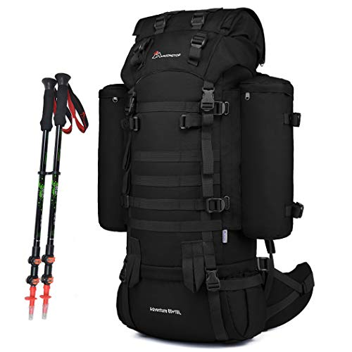 Mardingtop Tactical backpack 65+10L Military Rucksack MELLO Large Hiking pack Mountaineering backpack for Outdoor Camping Trekking with Rain Cover
