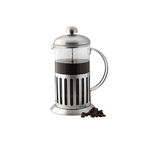 APOLLO THE HOUSEWARES - Pistone da caffè in acciaio INOX, antiurto, in vetro, 20 x 14 x 9 cm, colore: Argento