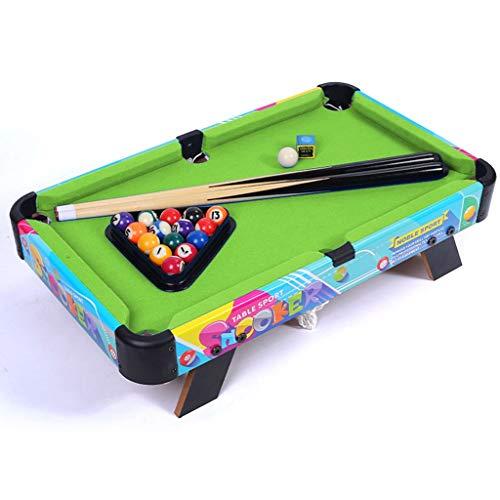 Mini piscina Conjunto de mesa - Portable piscina Juego de Pelota con 2 tacos de billar, los titulares de bolsillo, numeradas bolas y la tabla de billar for un delicioso uno-a-uno Snooker Juego