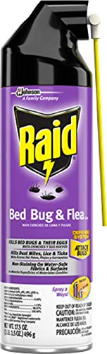 Raid Max Bed Bug and Flea Killer, Kills Bed Bugs, Eggs, Dust Mites, Lice and Ticks, 17.5 Oz