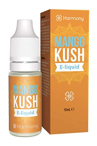 Harmony E-líquido de CBD (más de 99% pureza) - Terpenos de Mango Kush - 100 mg CBD en 10 ml - Sin Nicotina