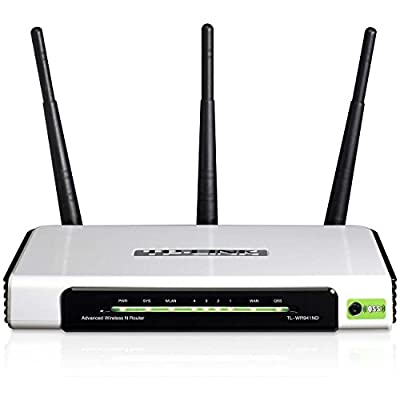 TP-LINK Wireless Home Router, IP QoS, WPS Button, 2 Detachable Antennas