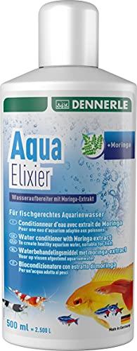 Dennerle Aqua Elixier - Wasseraufbereiter mit Moringa-Extrakt, für fischgerechtes Aquarienwasser (500 ml)
