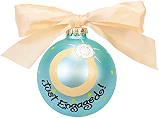 Coton Colors Just Engaged Glass Ornament 2