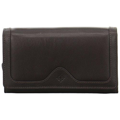 Eastline Damen Geldbörse mit Bügel groß Leder braun