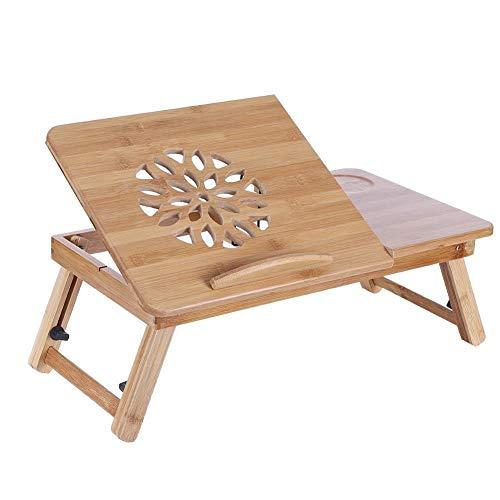 Mesa de ordenador portátil de bambú plegable