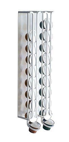 山崎実業 磁石でくっつけるだけ マグネット コーヒーカプセルホルダー プレート S サイズ用 ホワイト サイズ:約W10XD6.3XH33cm Plate 3880