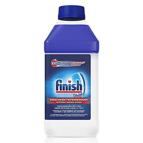 Finish Maschinentiefenreiniger – Flüssiger Maschinenreiniger gegen Kalk und Fett für eine saubere Spülmaschine – Sparpack mit 3 x 250 ml Maschinenpfleger