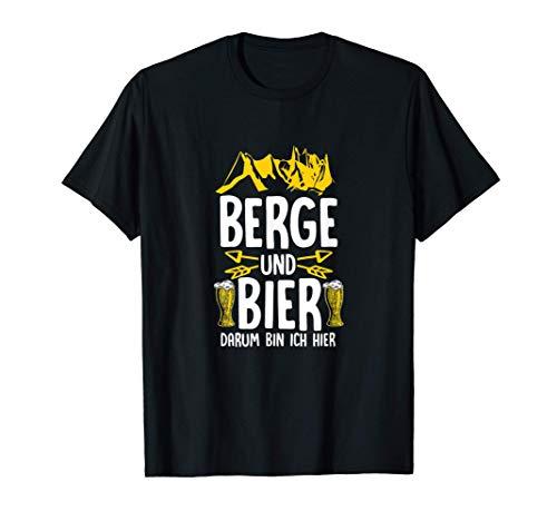 Nordic Walking Pilgern Berge und Bier darum bin ich hier T-Shirt