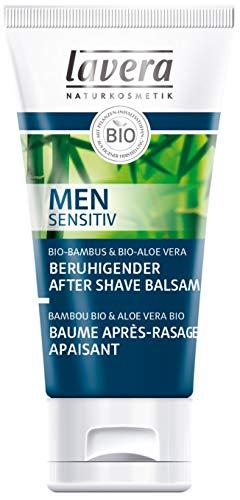 lavera Beruhigender After Shave Balsam Men sensitiv ∙ Beugt Hautrötungen vor ∙ Gesichtspflege für Männer ∙ Geeignet für empfindliche Haut ∙ vegan (1 x 50 ml)