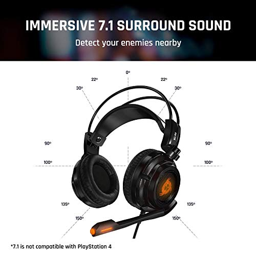 KLIM Puma – Cascos Auriculares Gaming con micrófono – Sonido Envolvente 7.1 –...