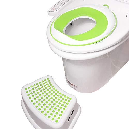 Wc-bril Potty training wc-bril en stap-kruk extra anti-slip wc-pads opknoping wc-ring geen installatie vereist voor 1-5 Ans