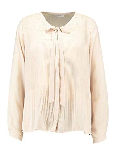 ONLY Damen onlRICA L/S Pleat Shirt WVN Bluse, Elfenbein (Pink Tint Pink Tint), 40