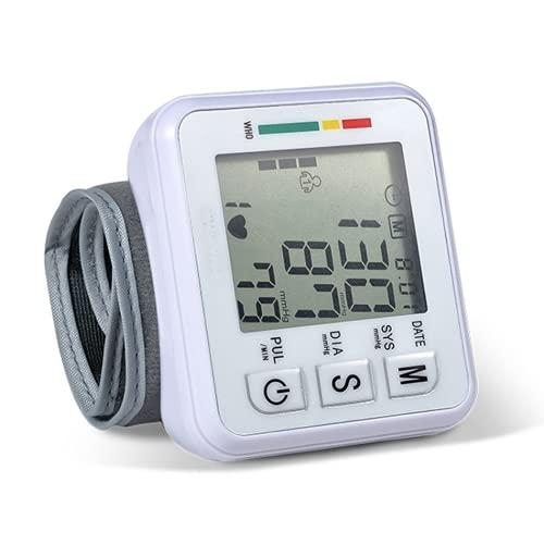 KaiKBax Monitor automático de presión arterial del brazo superior - Puños digitales para máquina de presión arterial para uso doméstico - Monitoreo de frecuencia de pulso con pantalla grande