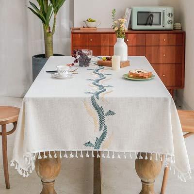 XXDD Mantel de Boda y decoración de Silla Mantel Colgante de Dobladillo con Bordado Decoraciones de Cocina A2 135x180cm