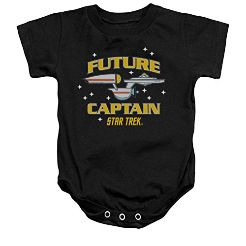 Infant: Star Trek- Future Captain Onesie Infant Onesie Size 0-6 Mos