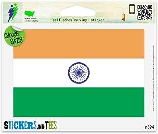 India Indian National Flag Vinyl Car Bumper Window Sticker 3