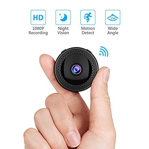 Mini Kamera WiFi HD1080P Videorecorder - SAVFY Micro Spy Cam Überwachungskamera Wireless mit Nachtsichtgerät/Bewegungserkennung für Außen- und Innenüberwachung