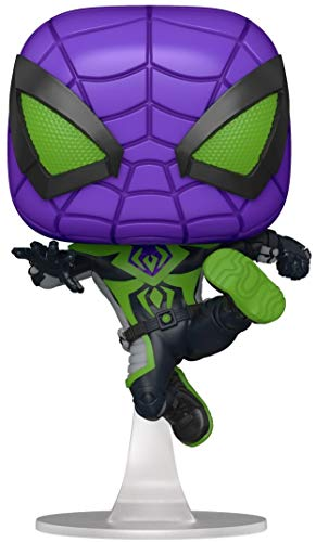 Funko 54695 POP Games: Spider-Man: Miles Morales- Miles (Purple Reign Suit)