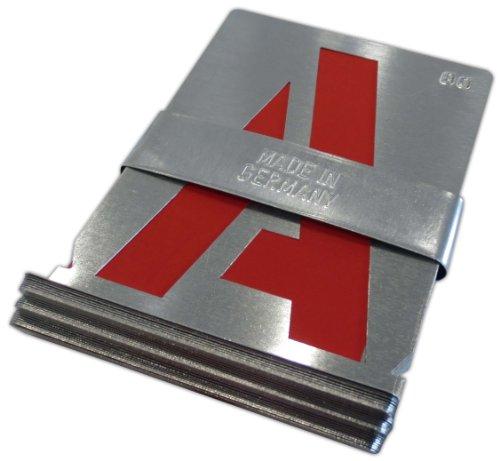 Signierschablonen Alphabet A-Z (27 Stk) 250 mm Großbuchstaben starkes Zinkblech Blockschrift DIN 1451 Made in Germany