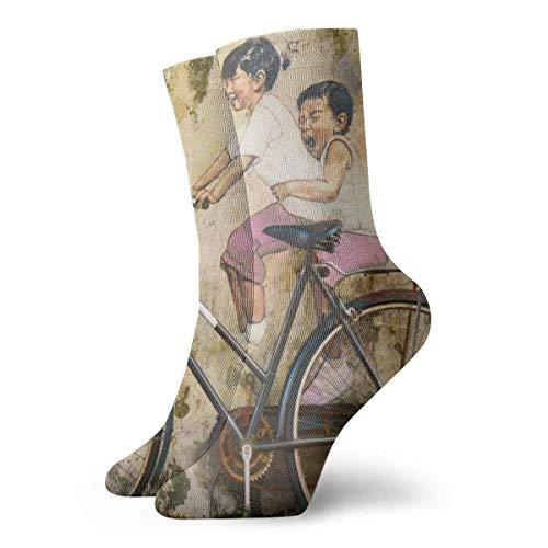 Be-ryl Kinderfahrrad A Riding Gra-ffiti Art Wallpaper Persönliche Socken, Für Wärme, Anti-Verschleiß-Socken