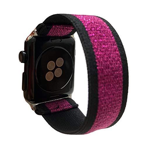ZLRFCOK Scrunchie Correa for Reloj de la Banda de Apple 40mm 44mm elástico de Las Mujeres Correa 42mm 38mm Pulsera de la muñeca for IWATCH Serie 5 4 3 2 1 (Band Color : 129, Band Width : 38mm 40mm)