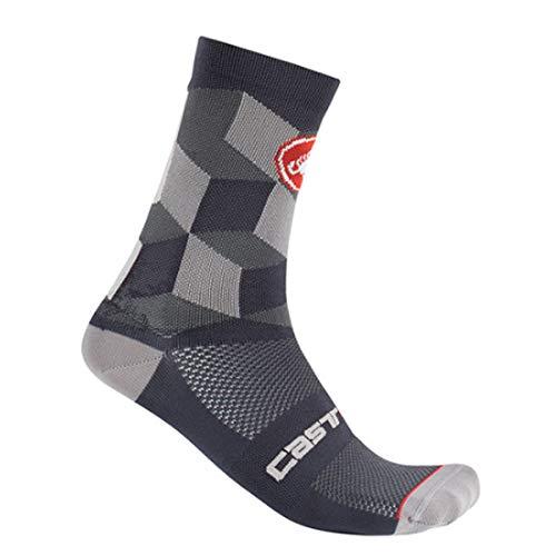 castelli Herren Unlimited 15 Socken, Dunkelgrau, XXL
